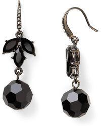 Carolee Night Vision Drop Earrings - Black