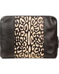 3.1 Phillip Lim Black Leopard Medium 31 Minute Leather Clutch Bag - Lyst