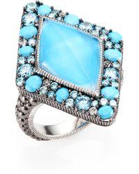 Judith Ripka Multi Gemstone Ring - Lyst