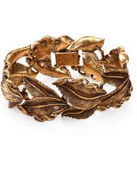 Aerin Erickson Beamon Antiqued Leaf Bracelet - Metallic