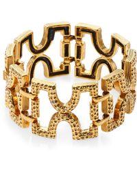 Aerin Erickson Beamon Geometric Link Bracelet - Metallic