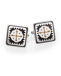 King Baby Studio Shipwreck Cross Cuff Links - Metallic