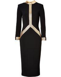L'Wren Scott Dress in Blackgold - Lyst