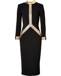 L'Wren Scott Dress In Black/Gold black - Lyst