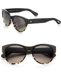 Oliver Peoples Mande Tortoiseshell Cat'S-Eye Sunglasses - Lyst