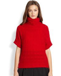 Ralph Lauren Blue Label Woolcashmere Cableknit Sweater - Lyst