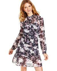 Macy's Button Down Peasant Dress - Multicolor