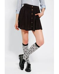 Cooperative Library Button-front Mini Skirt - Black