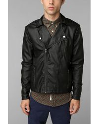 Urban Outfitters  Leather Moto Jacket - Lyst