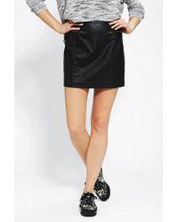Sparkle & Fade - Vegan Leather Mini Skirt - Lyst
