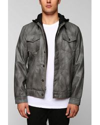 Urban Outfitters - Charles 12 Vegan Leather Hooded Jacket - Lyst