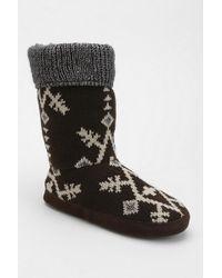 Urban Outfitters Muk Luks Vanessa Snowflake Slipper sock Boot - Lyst