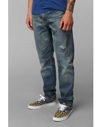 Urban Outfitters Levis 508 Shredded Jean - Blue