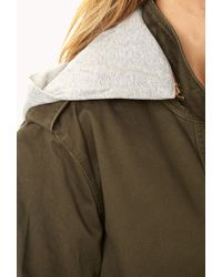 Forever 21 Must-have Hooded Parka - Green