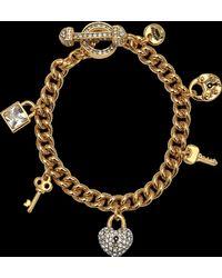 Juicy Couture Key Lock Charms Bracelet - Metallic