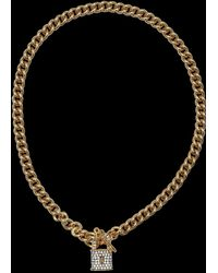 Juicy Couture - Pave Lock Necklace - Lyst