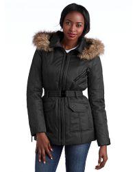 Kensie - Hooded Utility Coat - Lyst