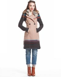 Plenty by Tracy Reese - Hooded Colorblock Coat - Lyst