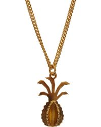 Sophie Hulme - Goldplated Pineapple Necklace - Lyst