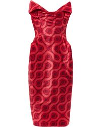 Vivienne Westwood Gold Label Exclusive Lilly Double Squiggleprint Dress - Lyst