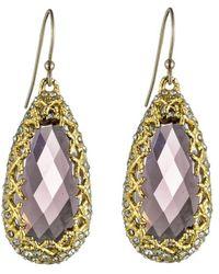 Alexis Bittar Floral Gold Imi Pink Tourmaline Tear Earrings - Lyst