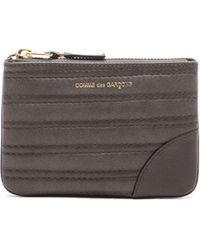 Comme des Garçons Embossed Stitch Small Pouch - Lyst