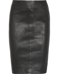JOSEPH Leather Pencil Skirt - Black