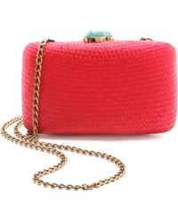 One By Jen Straw Minaudiere - Red