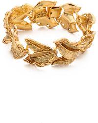 Aerin Erickson Beamon Leaf Bracelet - Metallic
