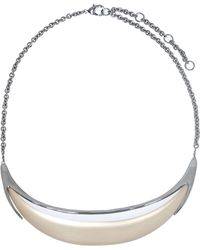 Alexis Bittar - Neo Bohemian Minimalist Crescent Lucite Necklace - Lyst