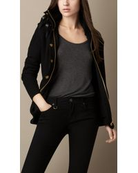 Burberry Merino Wool Knitted Jacket - Lyst