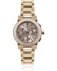 Burberry - The City Medium Rose Gold Watch - Lyst