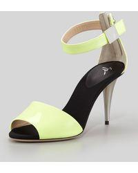 Giuseppe Zanotti Midheel Neon Sandal Yellow - Lyst