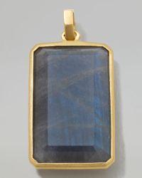 Ippolita - 18k Gold Large Rectangular Pendant in Labradorite - Lyst