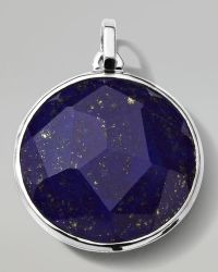 Ippolita - Mens Sterling Silver Round Pendant in Lapis - Lyst