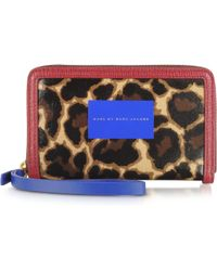 Marc By Marc Jacobs - Leopardprint Canvas Zip Walletiphone 5 Case - Lyst
