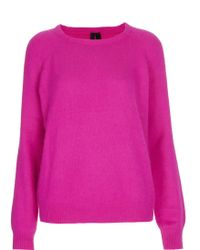 Topshop Slouchy Angora Jumper By Boutique - Lyst