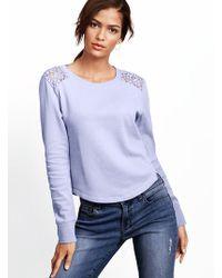 Victoria's Secret Lace shoulder Pullover - Lyst