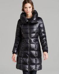 BCBGMAXAZRIA Down Coat Pillow Collar - Black