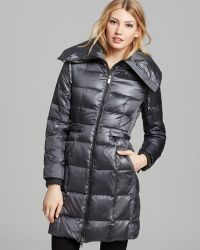 BCBGMAXAZRIA Down Coat Pillow Collar - Grey