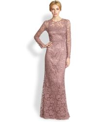 Dolce & Gabbana Long Sleeve Lace Gown Rose - Lyst