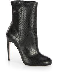 Gucci Goldie Python Ankle Boots black - Lyst