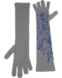Gucci Gloves gray - Lyst
