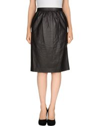Honor Leather Skirt - Lyst