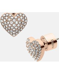 MICHAEL Michael Kors Michael Kors Brilliance Pavé Heart Stud Earrings - Lyst