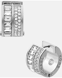 MICHAEL Michael Kors Brilliance Pavé Small Hoop Earrings - Lyst