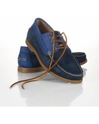 Polo Ralph Lauren Blackley Oiled Suede Boat Shoe - Blue