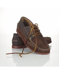 Polo Ralph Lauren Blackley Oiled Suede Boat Shoe - Brown