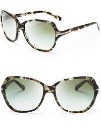 Tory Burch Square Logo Bar Sunglasses - Lyst