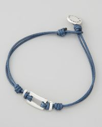 Catherine Zadeh - Cord Bracelet with Square Detail Blue - Lyst